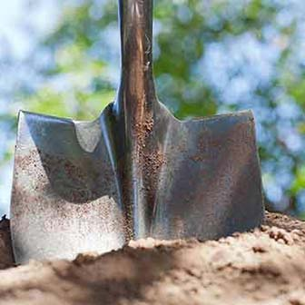 Shovel in the dirt