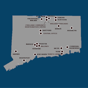 Map of CT Correctional Facilities