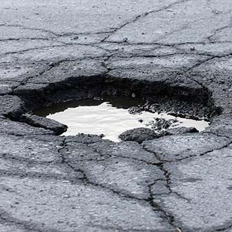 Pothole in the Road