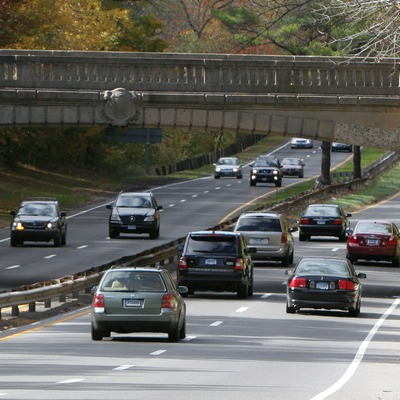 Cars on the Merritt Parkway