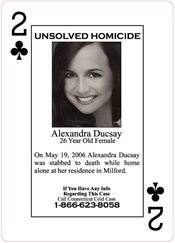 Alexandra Ducsay was found deceased in her home in Milford on May 19, 2006.