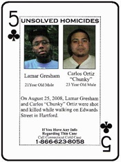 Lamar Gresham and Carlos Ortiz were mortally wounded in Hartford on August 25, 2008.