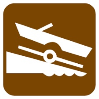 image of trailered boat launch icon