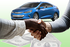 Handshake cash and electric vehicle