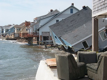 Damage in East Haven from Tropical Storm Irene