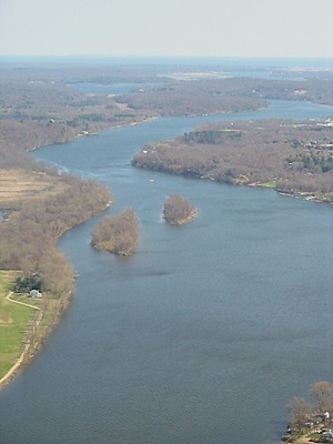Connecticut River aerial image