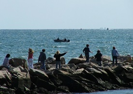 Multiple users of Long Island Sound