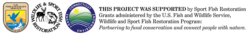 Standard tagline for Sport Fish Restoration grant funded projects.