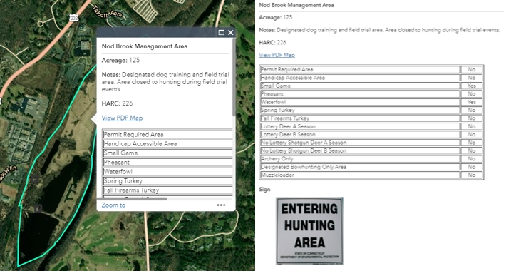 Screenshot of property selection beside expanded property info card