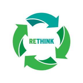 rethink logo with arrows