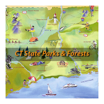 Color Map for CT State Parks and Forests