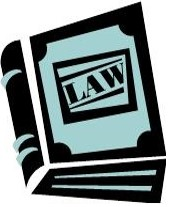 Illustration of a law book.