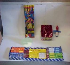 Roman Candles, Bottle Rockets, Fire Crackers