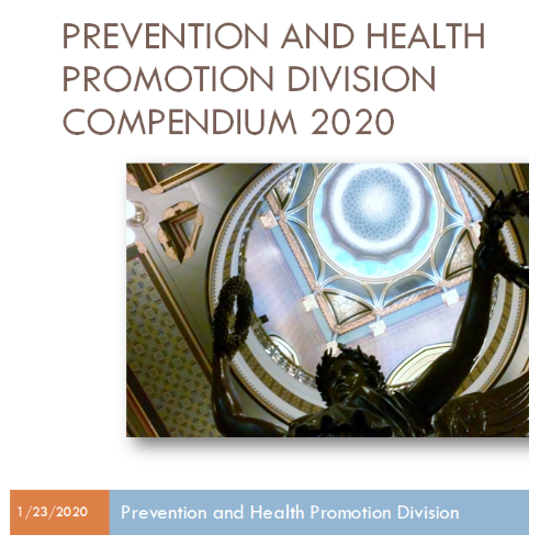 Prevention and Health Promotion Division Compendium 2020