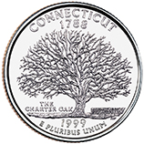 Connecticut Quarter Reverse, Charter Oak image