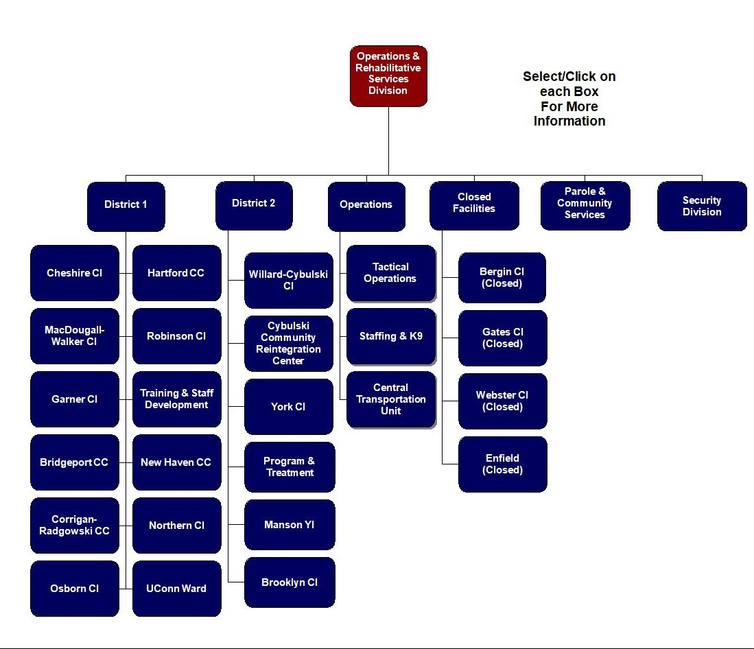 Department of Correction Organization Chart