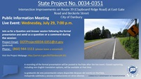 CLAPBOARD RIDGE ROAD (RTE 39) INTERSECTION IMPROVEMENTS STATE PROJECT #0034-0351