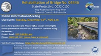 Replacement of Bridge No. 4446 Hop River Road over Hop River