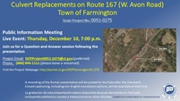 CULVERT REPLACEMENTS ON ROUTE 167, STATE PROJECT 0051-0275