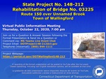 REHABILITATION OF BRIDGE NO. 3225 STATE PROJECT #0148-0212