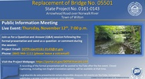 REPLACEMENT OF BRIDGE NO. 05501 STATE PROJECT #0161-0143