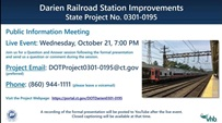 DARIEN RAILROAD STATION IMPROVEMENTS STATE PROJECT #0301-0195