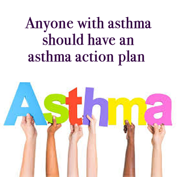 image of childrens hands holding letters that spell out Asthma