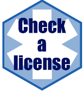 link to eLicense to look up a license