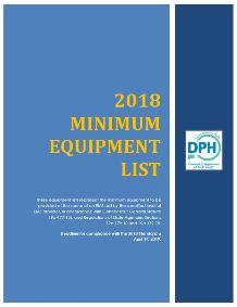 2018 CT EMS Minimum Equipment lists