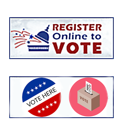 Register to Vote logo.