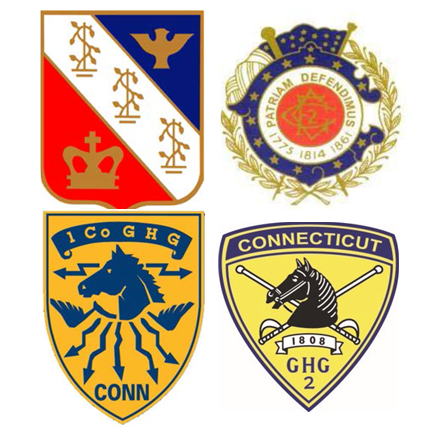 Logos of the four units of the Governors Guards