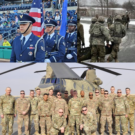 Collage of military personnel