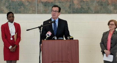 Governor Malloy announcing graduation rates