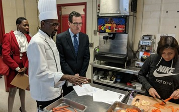 Governor Malloy at Wilbur Cross High School in New Haven
