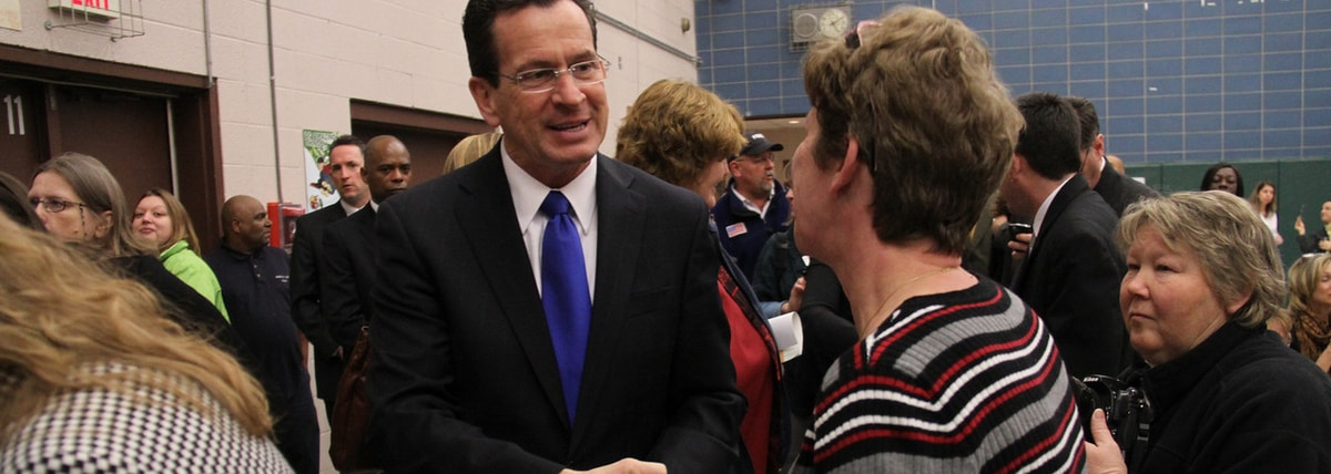 Governor Malloy greeting constituents at an event