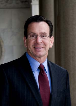 Governor Malloy in a suit and tie