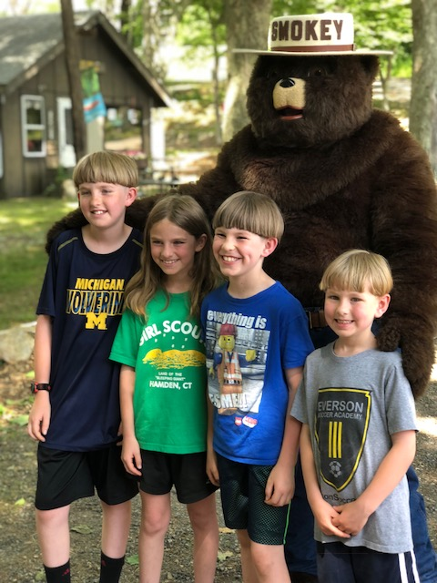 GPP kids with Smokey Bear