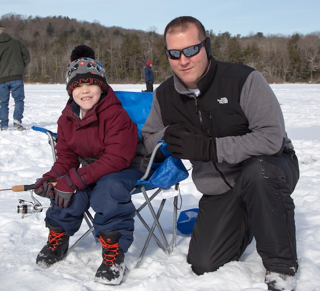 Kid and Adult Ice Fishing