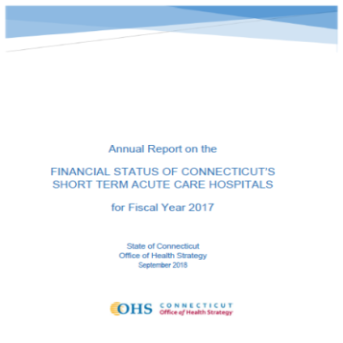 image of the 2017 Hospital Financial Stability Report cover page