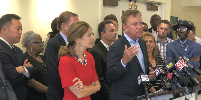 Governor Lamont speaks at press conference on immigration