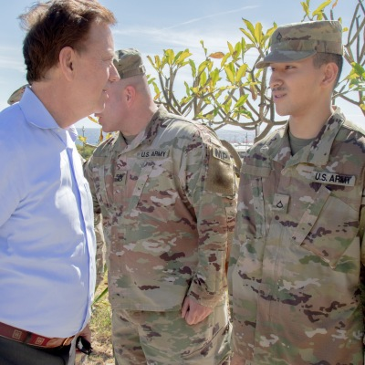 Governor Lamont meets with members of the Connecticut National Guard in Guantanamo Bay
