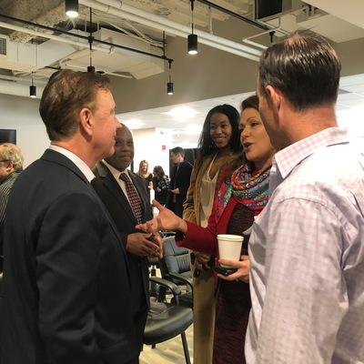 Governor Lamont at Governor's Innovation Fellowship announcement