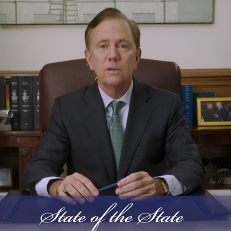 Governor Lamont delivering the State of the State address