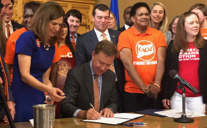 Governor Lamont signs gun violence prevention bills