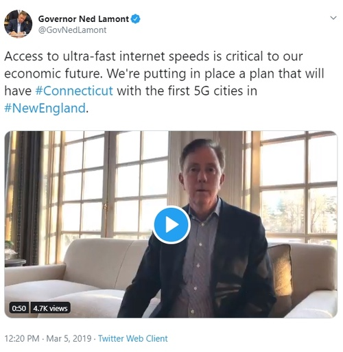 Tweet from Governor Lamont