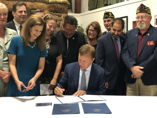 Governor Lamont signing veterans bills