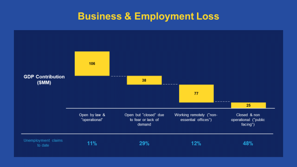 COVID metrics Business and Employment Loss