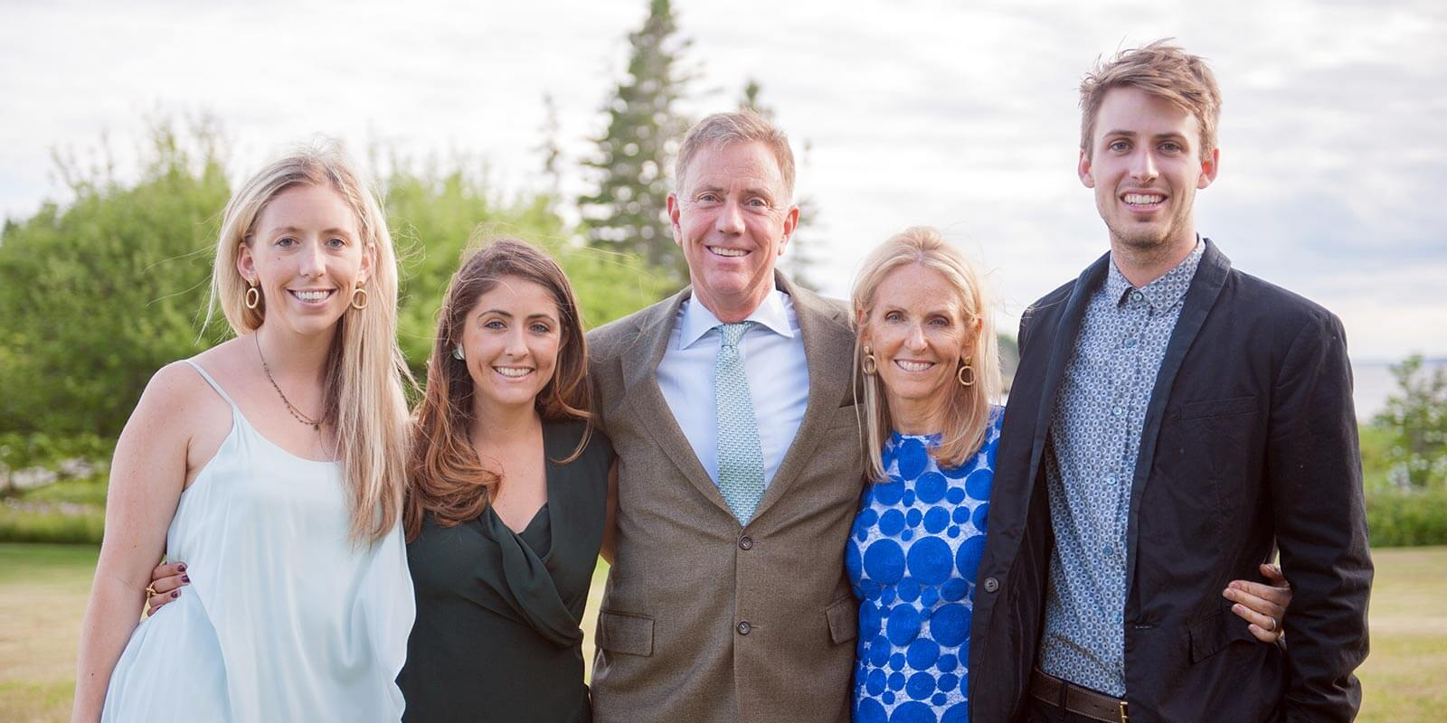 Governor Ned Lamont with his family