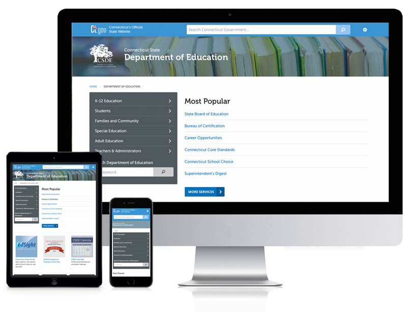 state department of education website preview