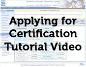Applying for Certification Tutorial Video